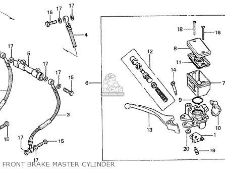 Honda Cx500t Turbo 1982 c Australia Front Brake Master Cylinder