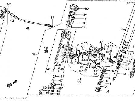 Honda Cx500t Turbo 1982 c Australia Front Fork