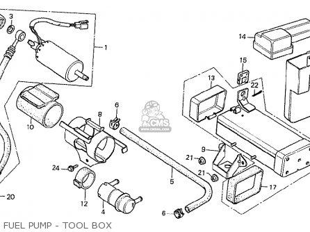Honda Cx500t Turbo 1982 c Australia Fuel Pump - Tool Box