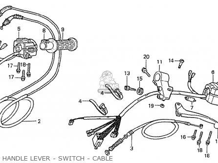 Honda Cx500t Turbo 1982 c Australia Handle Lever - Switch - Cable