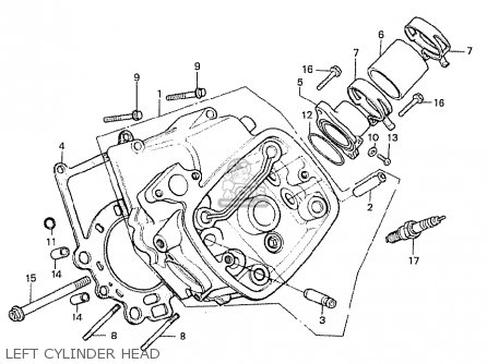Honda Cx500t Turbo 1982 c Australia Left Cylinder Head