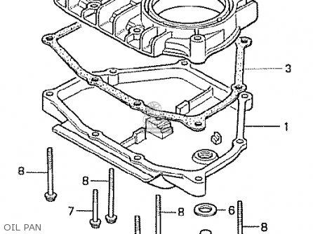 Honda Cx500t Turbo 1982 c Australia Oil Pan