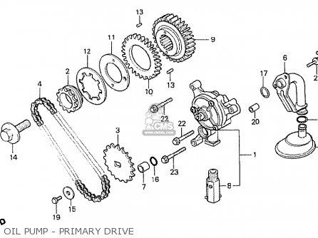 Honda Cx500t Turbo 1982 c Australia Oil Pump - Primary Drive