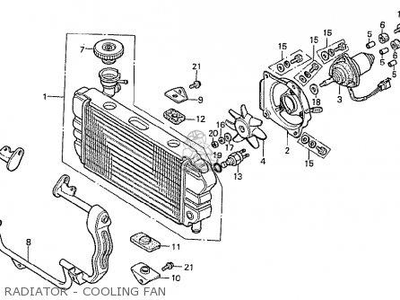 Honda Cx500t Turbo 1982 c Australia Radiator - Cooling Fan