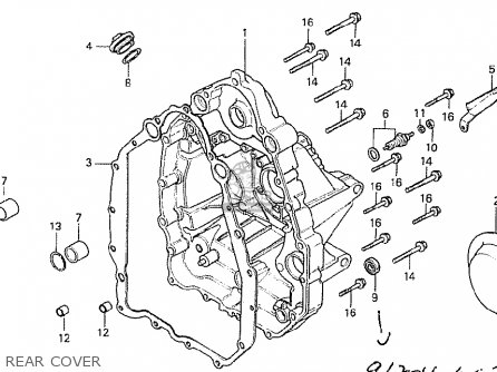Honda Cx500t Turbo 1982 c Australia Rear Cover