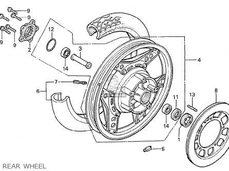 Honda Cx500t Turbo 1982 c Australia Rear Wheel