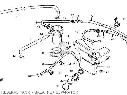 Honda Cx500t Turbo 1982 c Australia Reserve Tank - Breather Separator