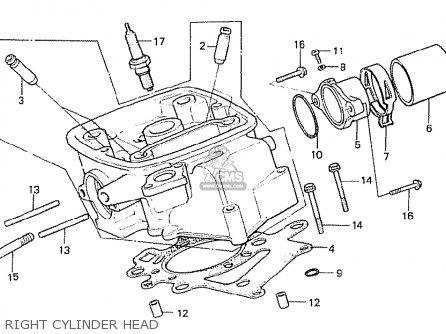 Honda Cx500t Turbo 1982 c Australia Right Cylinder Head