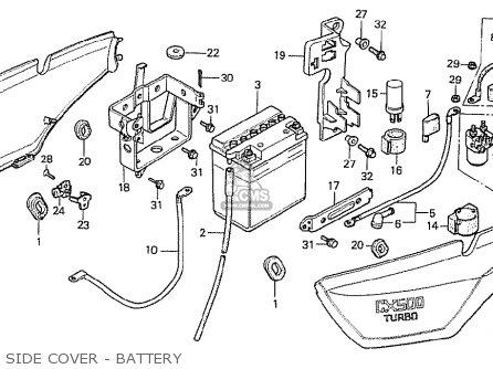 Honda Cx500t Turbo 1982 c Australia Side Cover - Battery