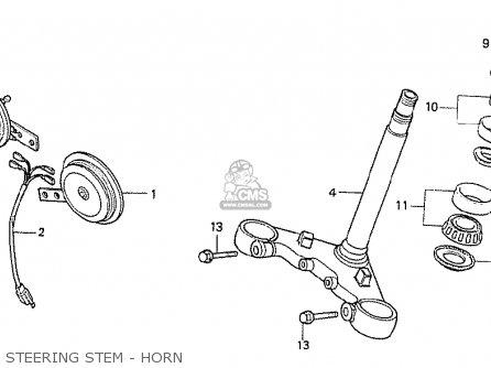 Honda Cx500t Turbo 1982 c Australia Steering Stem - Horn