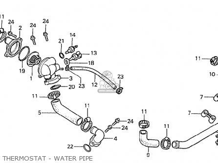 Honda Cx500t Turbo 1982 c Australia Thermostat - Water Pipe