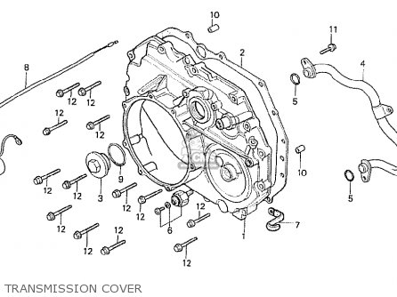 Honda Cx500t Turbo 1982 c Australia Transmission Cover