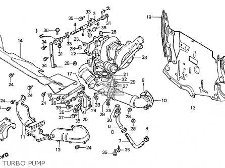 Honda Cx500t Turbo 1982 c Australia Turbo Pump