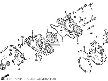 Honda Cx500t Turbo 1982 c Australia Water Pump - Pulse Generator