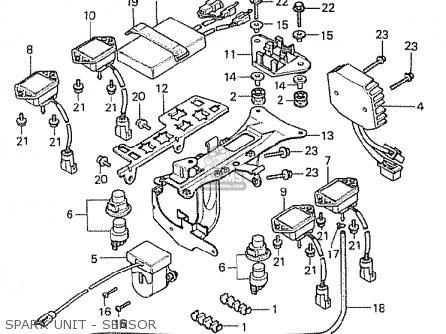 Honda Cx500t Turbo 1982 c Belgium Spark Unit - Sensor