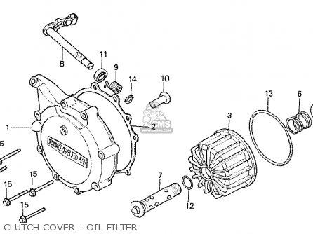 Honda Cx500t Turbo 1982 c Canada Clutch Cover - Oil Filter