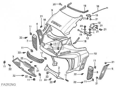 Honda Cx500t Turbo 1982 c Canada Fairing