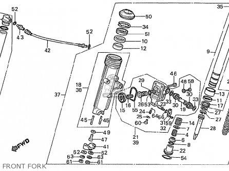 Honda Cx500t Turbo 1982 c Canada Front Fork