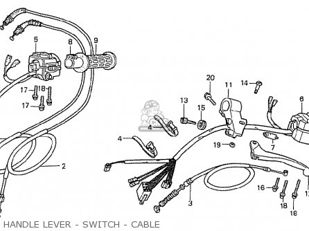 Honda Cx500t Turbo 1982 c Canada Handle Lever - Switch - Cable