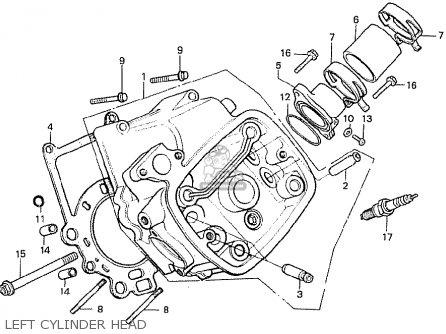 Honda Cx500t Turbo 1982 c Canada Left Cylinder Head