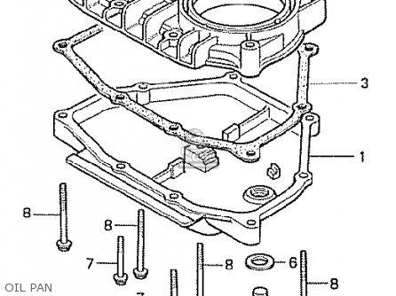 Honda Cx500t Turbo 1982 c Canada Oil Pan