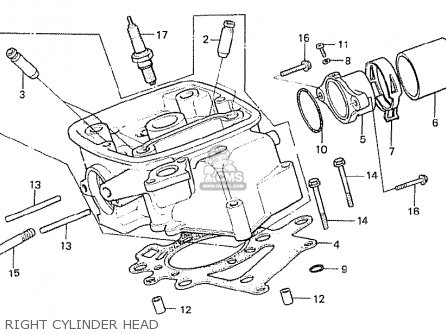 Honda Cx500t Turbo 1982 c Canada Right Cylinder Head