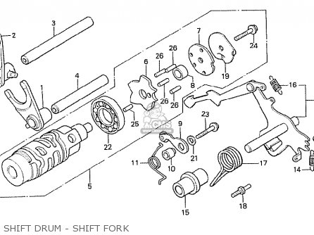 Honda Cx500t Turbo 1982 c Canada Shift Drum - Shift Fork