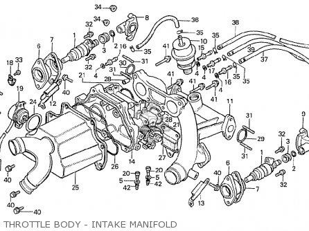 Honda Cx500t Turbo 1982 c Canada Throttle Body - Intake Manifold