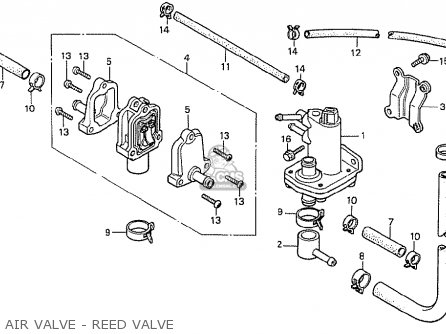 Honda Cx500t Turbo 1982 c England Air Valve - Reed Valve