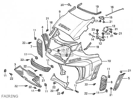 Honda Cx500t Turbo 1982 c England Fairing