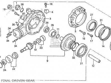 Honda Cx500t Turbo 1982 c England Final Driven Gear