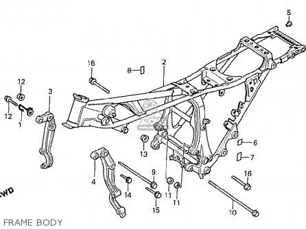 Honda Cx500t Turbo 1982 c England Frame Body