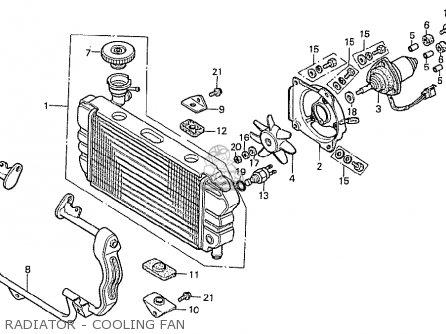 Honda Cx500t Turbo 1982 c England Radiator - Cooling Fan