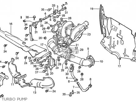 Honda Cx500t Turbo 1982 c England Turbo Pump