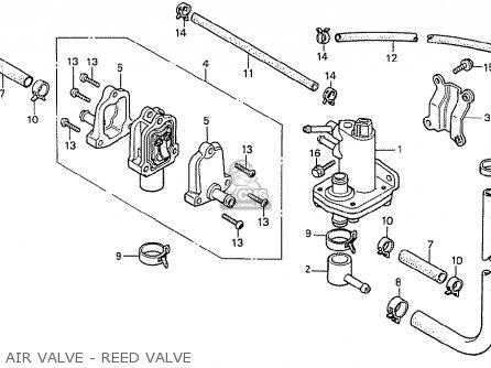 Honda Cx500t Turbo 1982 c European Direct Sales Air Valve - Reed Valve