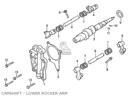 Honda Cx500t Turbo 1982 c European Direct Sales Camshaft - Lower Rocker Arm