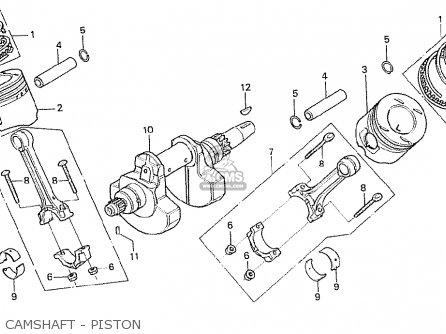 Honda Cx500t Turbo 1982 c European Direct Sales Camshaft - Piston