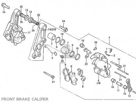 Honda Cx500t Turbo 1982 c European Direct Sales Front Brake Caliper