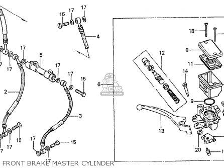 Honda Cx500t Turbo 1982 c European Direct Sales Front Brake Master Cylinder