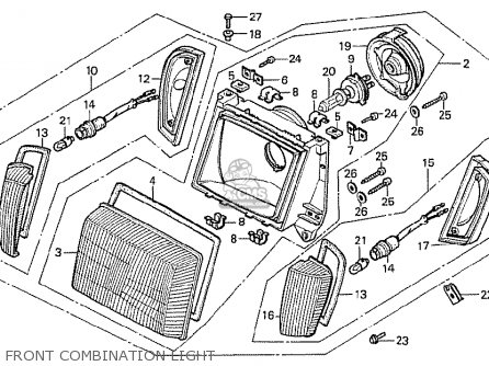 Honda Cx500t Turbo 1982 c European Direct Sales Front Combination Light