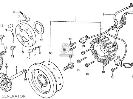 Honda Cx500t Turbo 1982 c European Direct Sales Generator