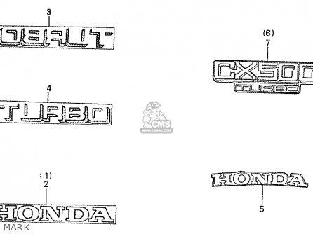 Honda Cx500t Turbo 1982 c European Direct Sales Mark