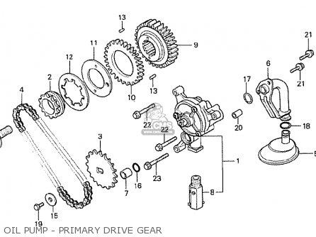 Honda Cx500t Turbo 1982 c European Direct Sales Oil Pump - Primary Drive Gear