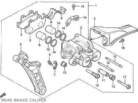Honda Cx500t Turbo 1982 c European Direct Sales Rear Brake Caliper