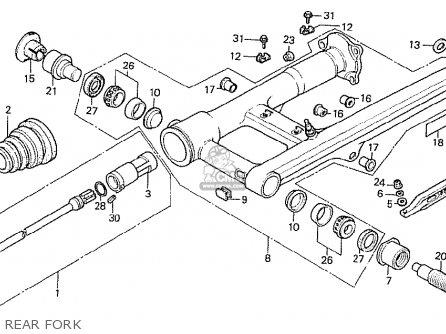 Honda Cx500t Turbo 1982 c European Direct Sales Rear Fork