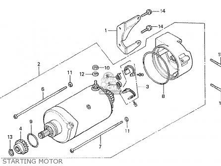 Honda Cx500t Turbo 1982 c European Direct Sales Starting Motor