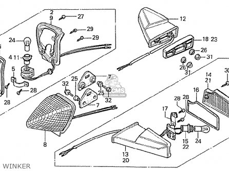 Honda Cx500t Turbo 1982 c European Direct Sales Winker
