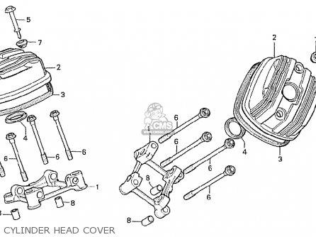 Honda Cx500t Turbo 1982 c Germany Cylinder Head Cover