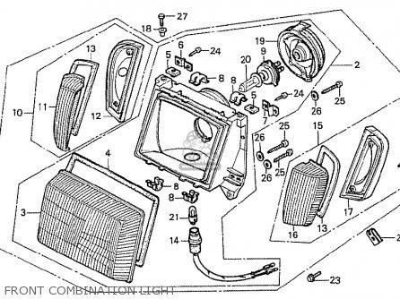 Honda Cx500t Turbo 1982 c Germany Front Combination Light