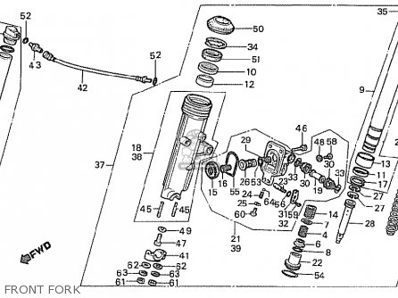Honda Cx500t Turbo 1982 c Germany Front Fork